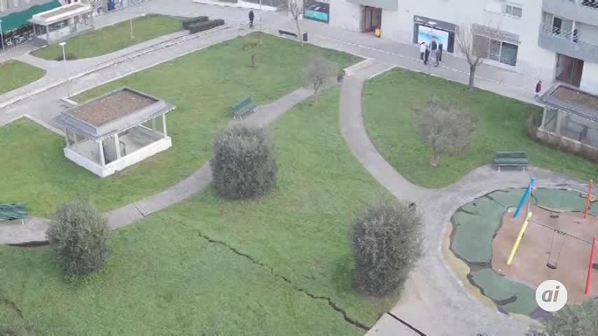 Se hunde un parking subterráneo en Santander y se buscan víctimas