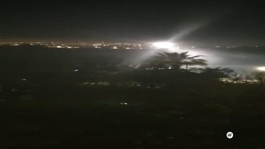 Espectacular acción del helicóptero de Aduanas en Palmones
