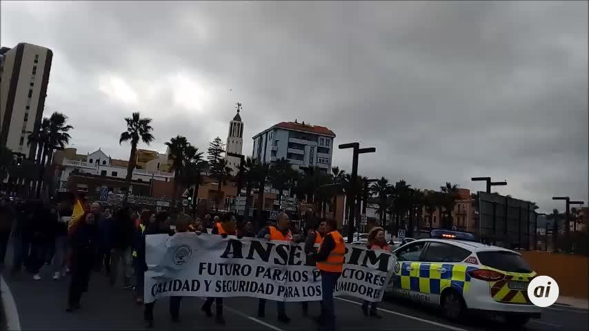 Agricultores protestan en Algeciras por la importación descontrolada