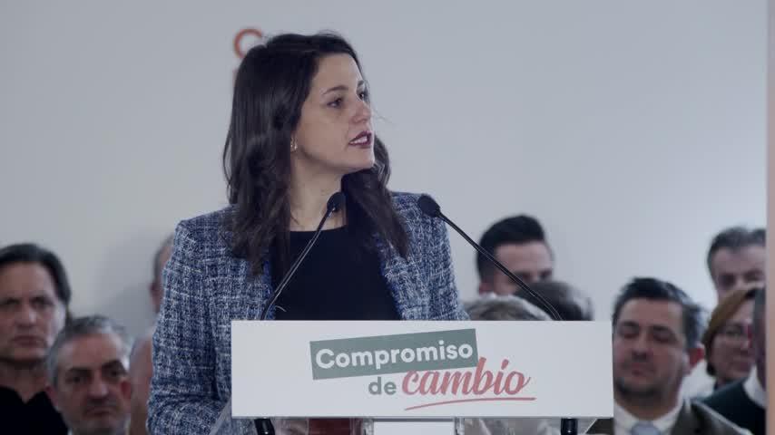"""Arrimadas: Cs ha sido """"llave"""" para """"un cambio de era"""" para Andalucía"""