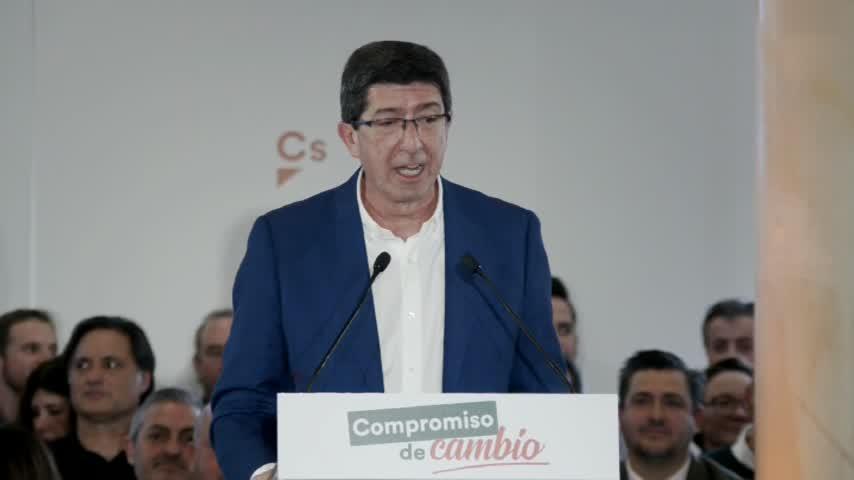 """Marín. """"Hoy quien marca el ritmo del Gobierno de Andalucía es Cs"""""""