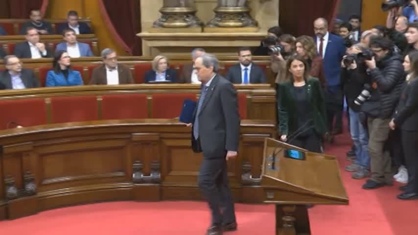 La Mesa del Parlament avala retirar la condición de diputado a Torra