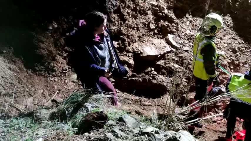 El complicado rescate de una yegua con final triste en Málaga