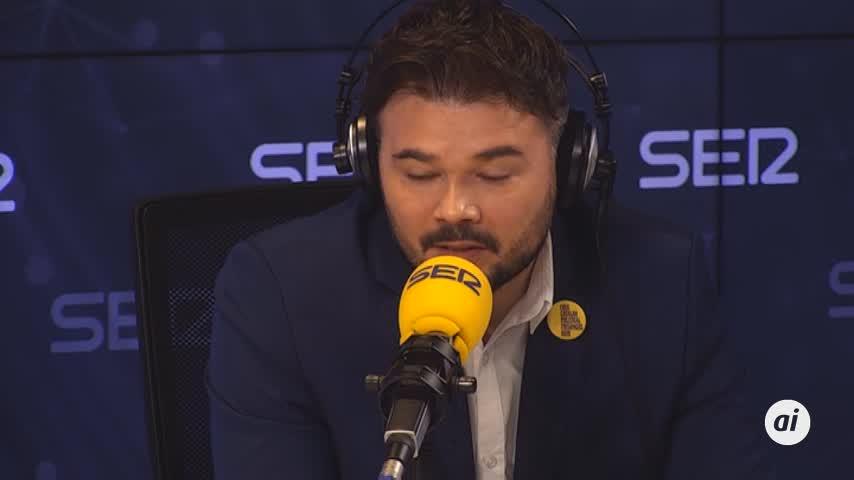 """Rufián dice que no hubo """"mala fe"""" en Moncloa al aplazar la mesa"""