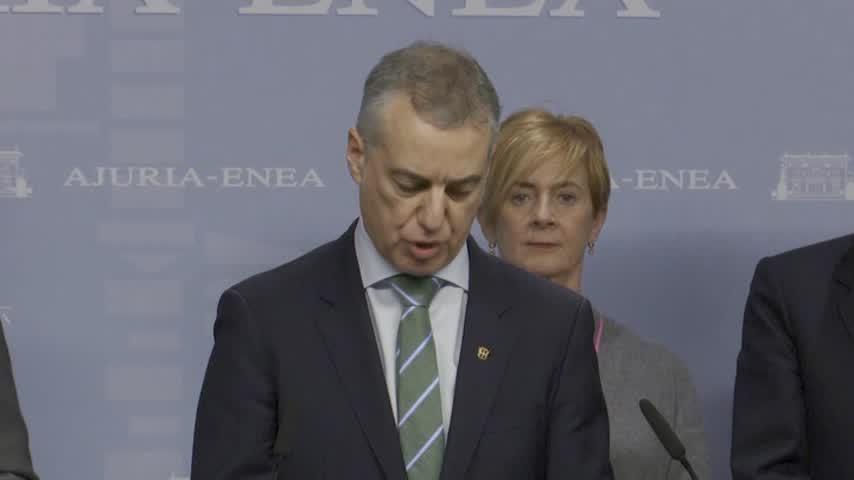 Urkullu adelanta las elecciones autonómicas vascas al 5 de abril