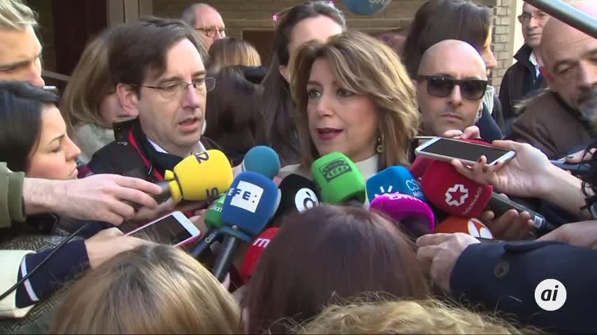 """Susana Díaz, sobre Cataluña: """"El diálogo y la ley van de la mano"""""""