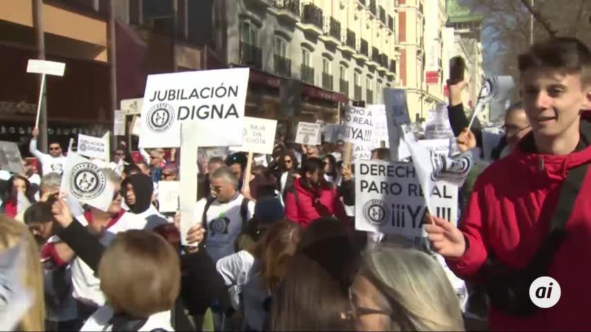 Autónomos de toda España piden en Madrid igualdad de derechos
