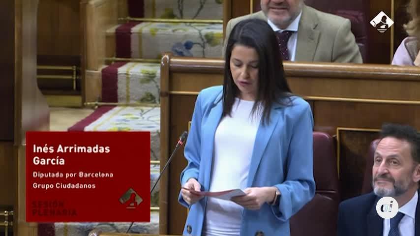 """Inés Arrimadas critica los """"dedazos"""" del Gobierno"""
