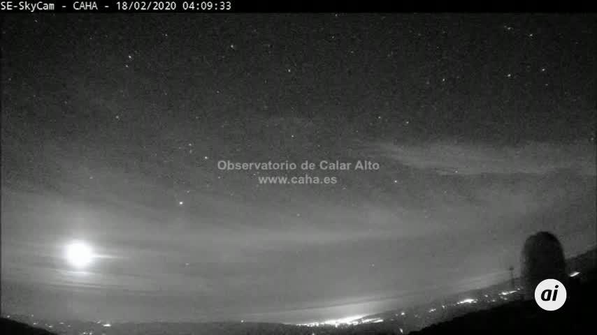 Detectan bola fuego sobrevolando centro peninsular a 80.000 km/hora