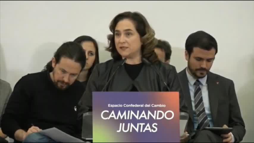 Colau quiere un gobierno catalán que acabe con la polarización infame