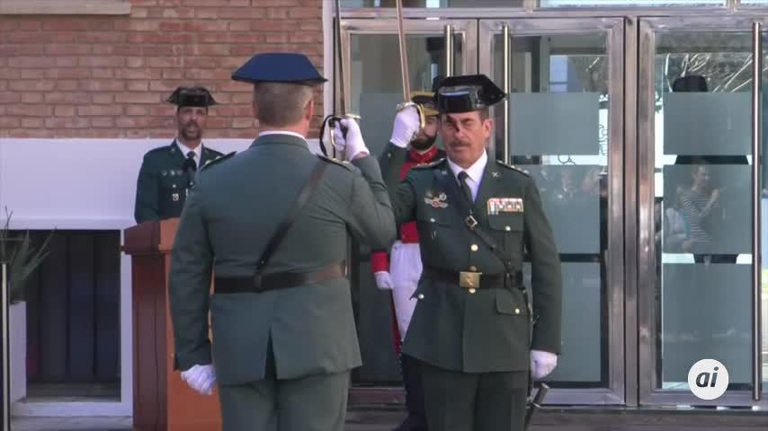 Gámez asiste a la toma de posesión del nuevo jefe de la Guardia Civil