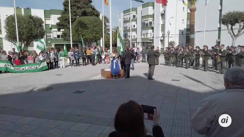 El 28-F se celebra un año más en la plaza de la barriada Andalucía