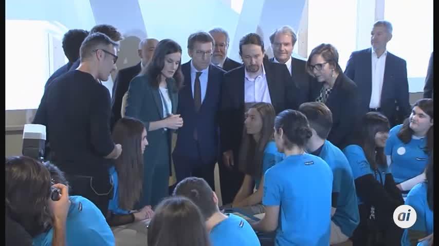 Iglesias se estrena como ministro de jornada con la reina en un acto
