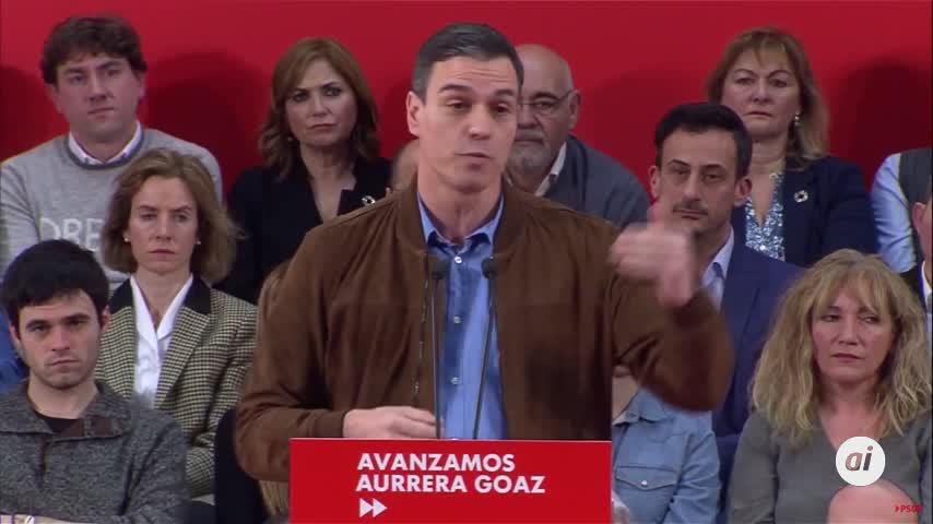 Pedro Sánchez dice que cumplirá Estatuto vasco