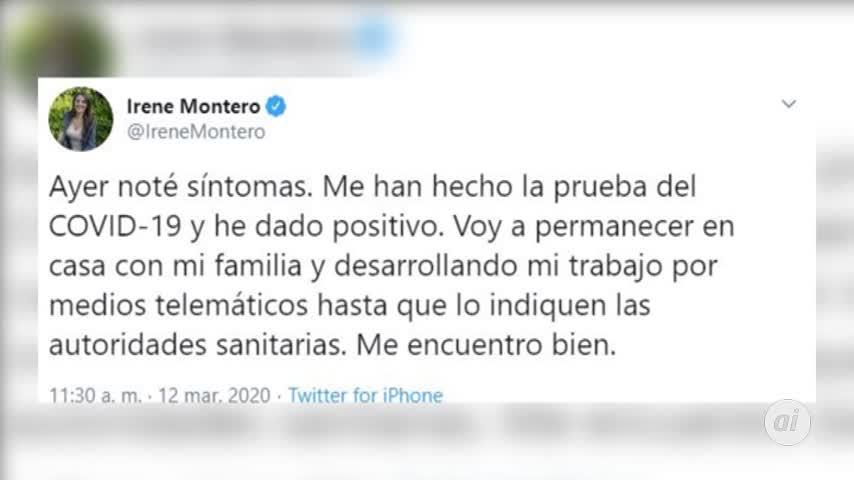 Coronavirus: Irene Montero da positivo y Pablo Iglesias, en cuarentena