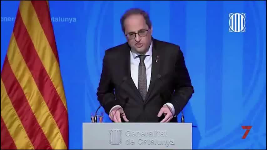 Torra anuncia el confinamiento de toda Cataluña