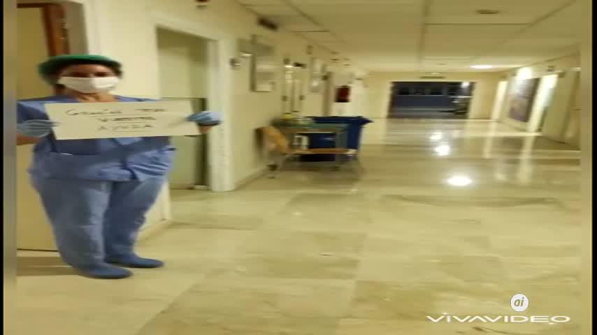 El aplauso de Pediatría del Macarena por no saturar las urgencias