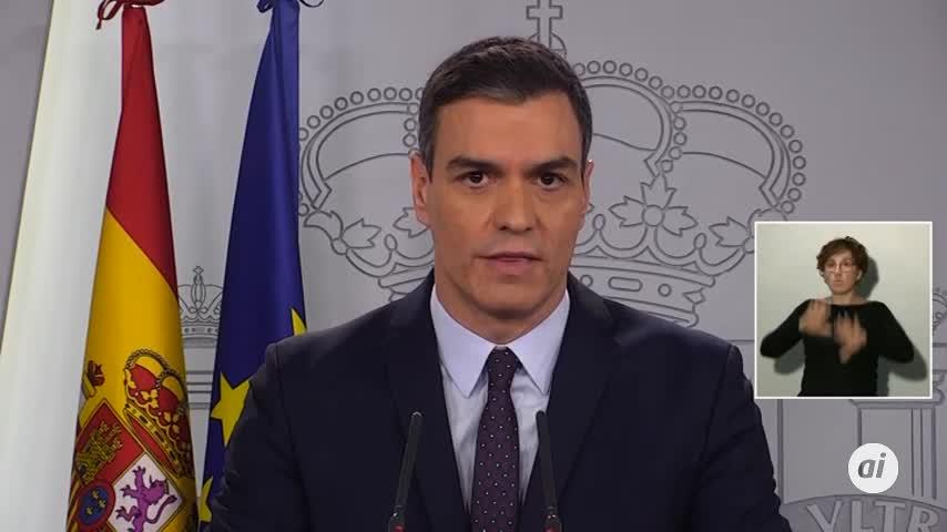Coronavirus: Pedro Sánchez anuncia la movilización de 200.000 millones