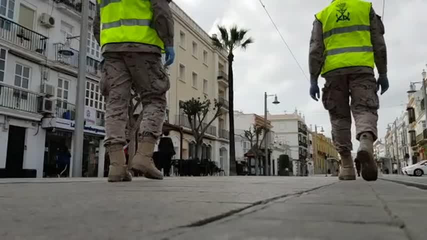 La Infantería de Marina sigue patrullando las localidades de la Bahía