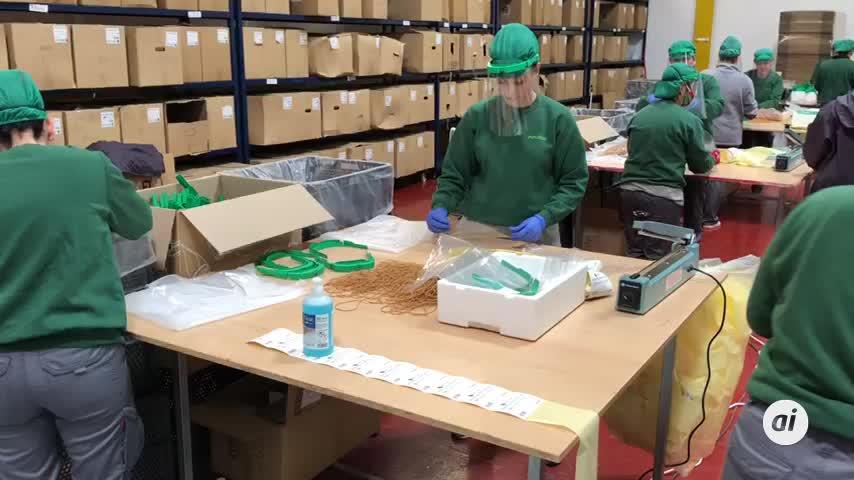 Una empresa de Lepe fabrica máscaras de protección a escala industrial