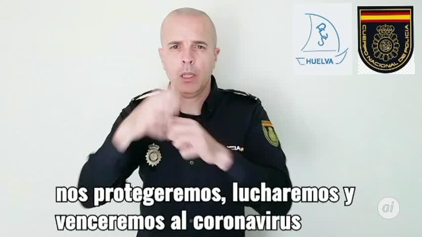 Guiño de la Policía Nacional de Huelva a las personas sordas