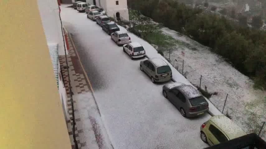 Una granizada causa estragos en puntos de la provincia de Málaga