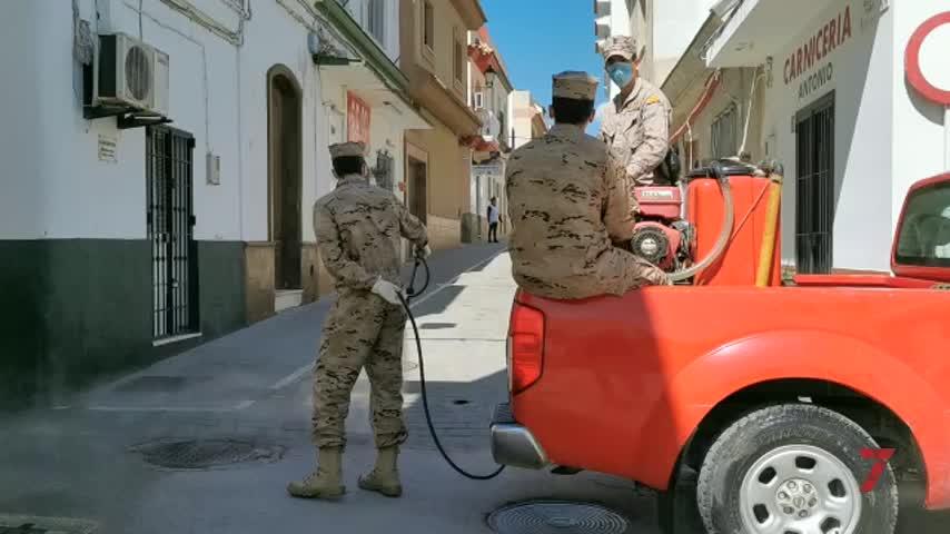 Infantería de Marina realiza la cuarta desinfección de calles