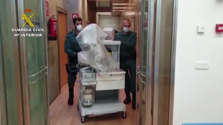 La otra labor de la Guardia Civil: trasladan respiradores a hospitales