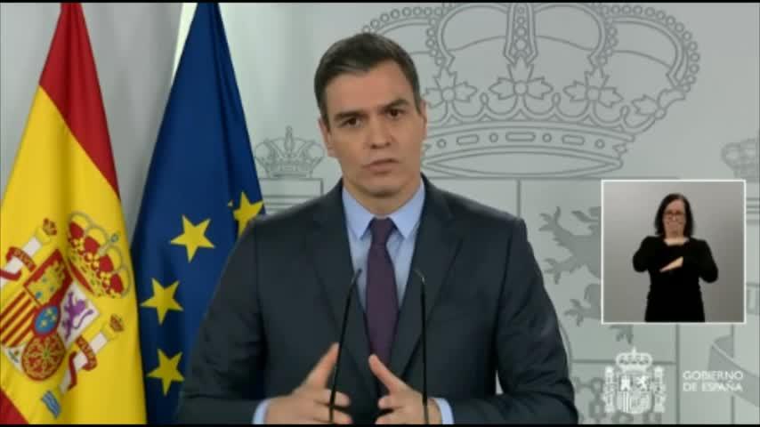 """Sánchez: """"Ya anuncio que vendrán más días de estado de alarma"""""""