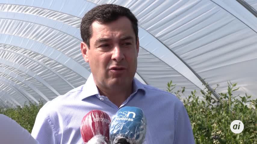 Moreno pide desde Huelva  que no se criminalice al campo