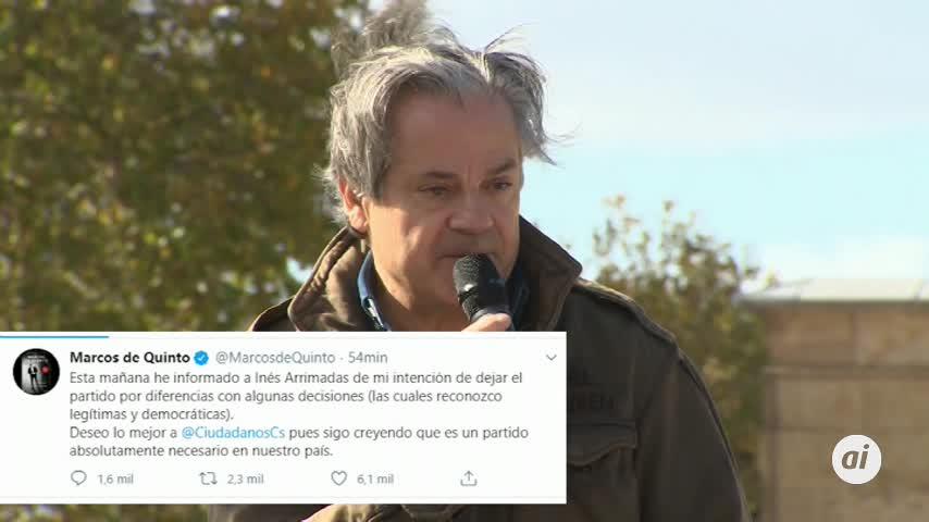 """Marcos de Quinto deja Ciudadanos por """"diferencias"""""""