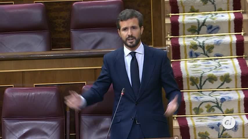 """Casado culpa a Sánchez de """"fracasar"""" dejando un """"erial"""""""