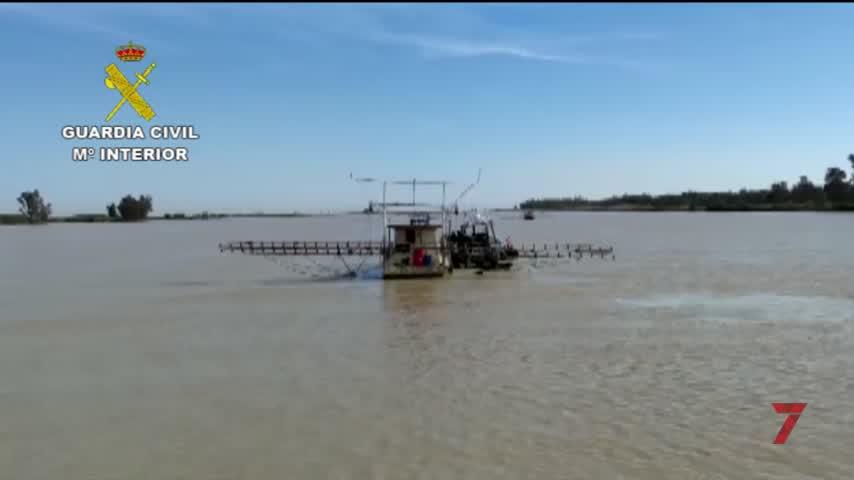 Nuevo golpe a las plataformas anguleras ilegales en el Guadalquivir