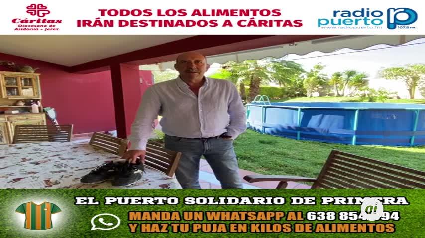 Unas botas de Carmelo, subasta de 'El Puerto Solidario de Primera'