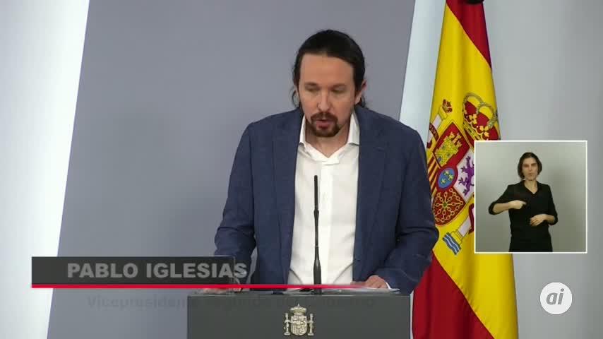 """Pablo Iglesias: """"Hoy es un día histórico, nace un nuevo derecho"""""""