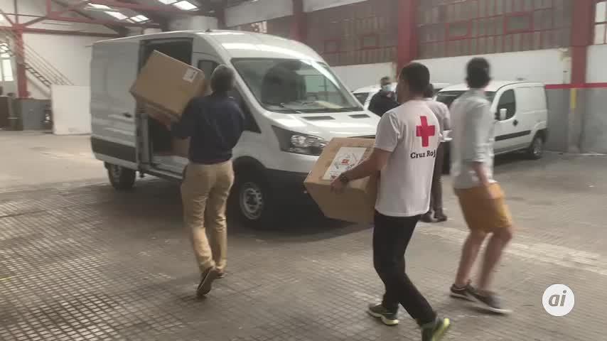Entrega de 82.000 mascarillas a Cruz Roja, Cáritas y Cermi en Cádiz