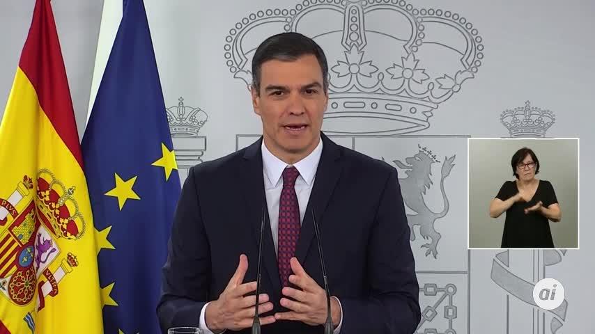 """Pedro Sánchez: """"El virus puede volver, depende de todos evitarlo"""""""