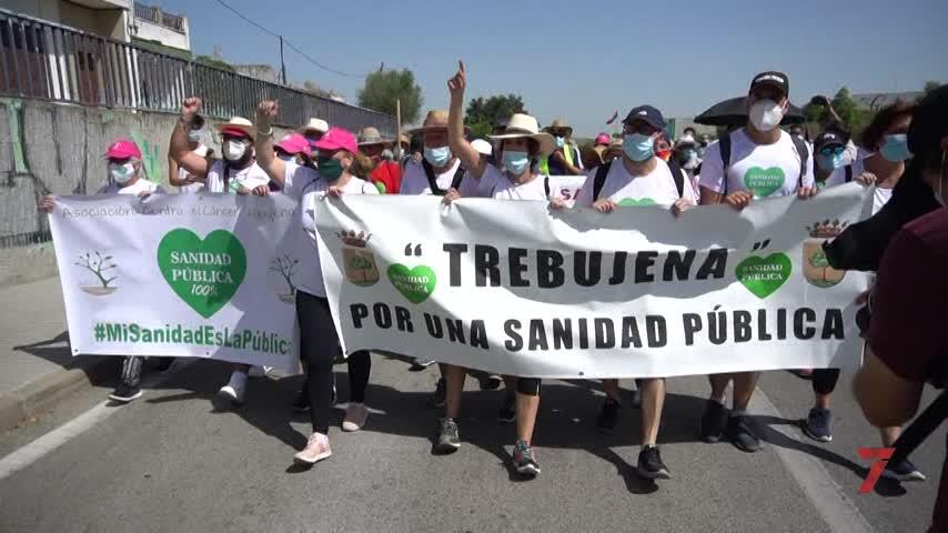 De Trebujena a Jerez a pie en defensa de la sanidad pública