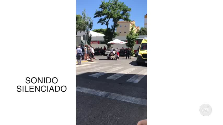 Trasladado al Puerta del Mar tras un choque de un coche con una moto
