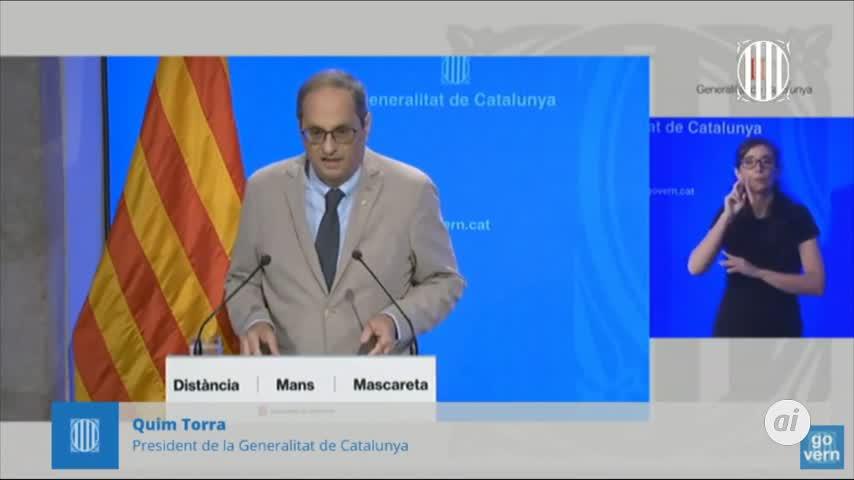Torra anuncia el confinamiento perimetral de El Segrià (Lleida)