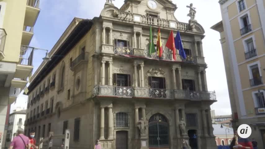 Tranquilidad en Pamplona por un 6 de julio inusual sin Sanfermines