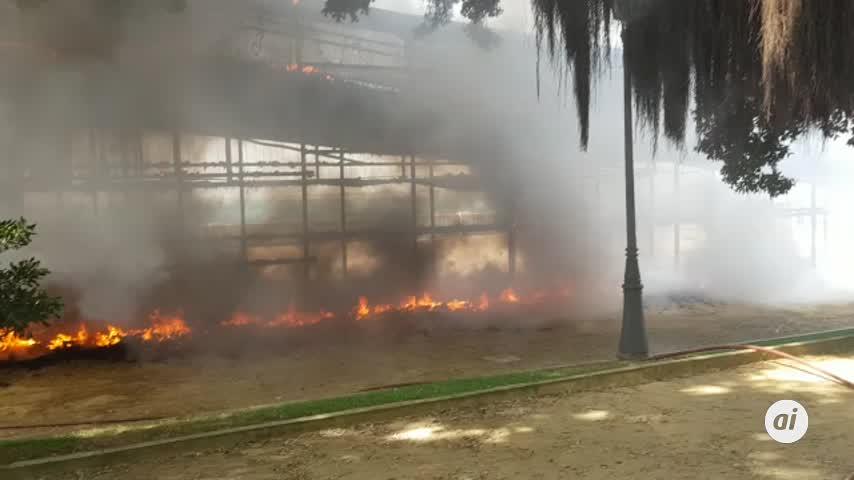 Registrado un incendio en la zona de Santa Bárbara
