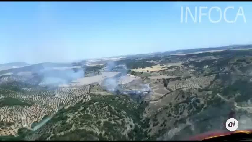 Extinguido el incendio forestal declarado este sábado en Coripe