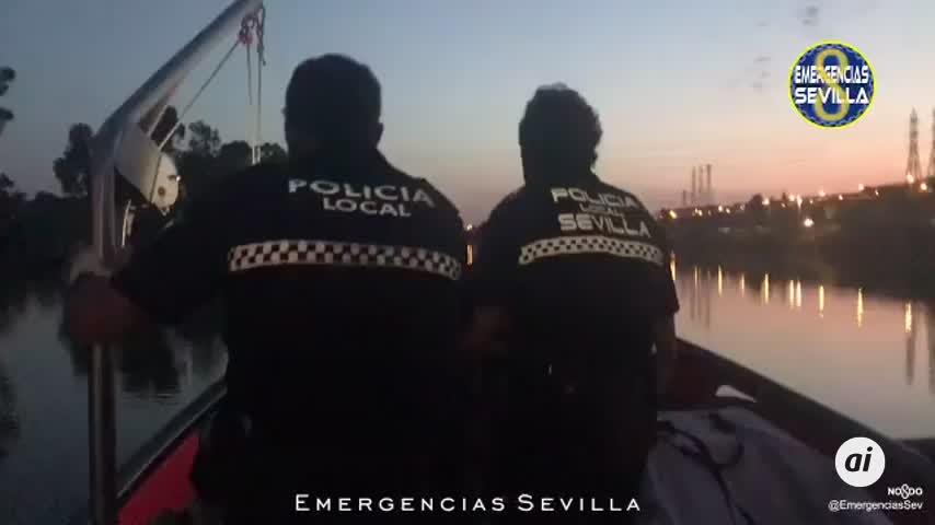 La Policía busca a un ladrón que se tiró al río al ser sorprendido