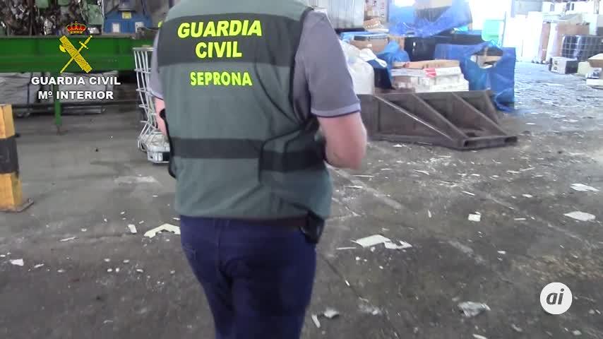 Cinco detenidos en una planta de reciclaje de Aznalcóllar