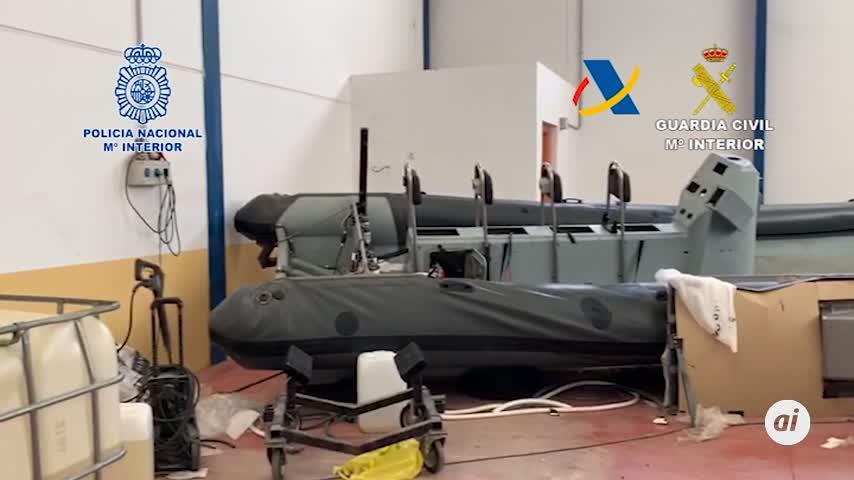 Desarticulan una organización que fabricaba lanchas para llevar hachís