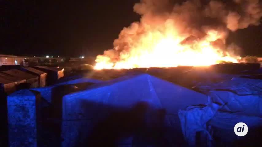 Registrado un nuevo incendio de madrugada en un asentamiento de Lepe