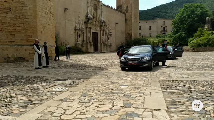 Torra no acompaña a los Reyes en su visita al Monasterio de Poblet