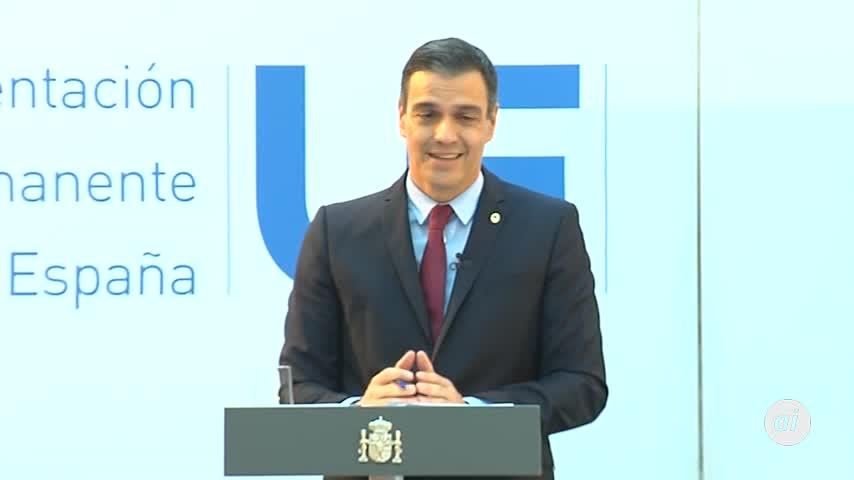 """Sánchez, """"satisfecho al 95%"""" con el plan de recuperación de la UE"""