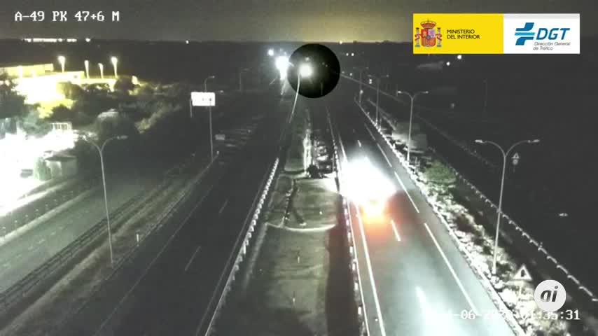 Detenido el conductor que circuló 25 kilómetros en sentido contrario en la A-49